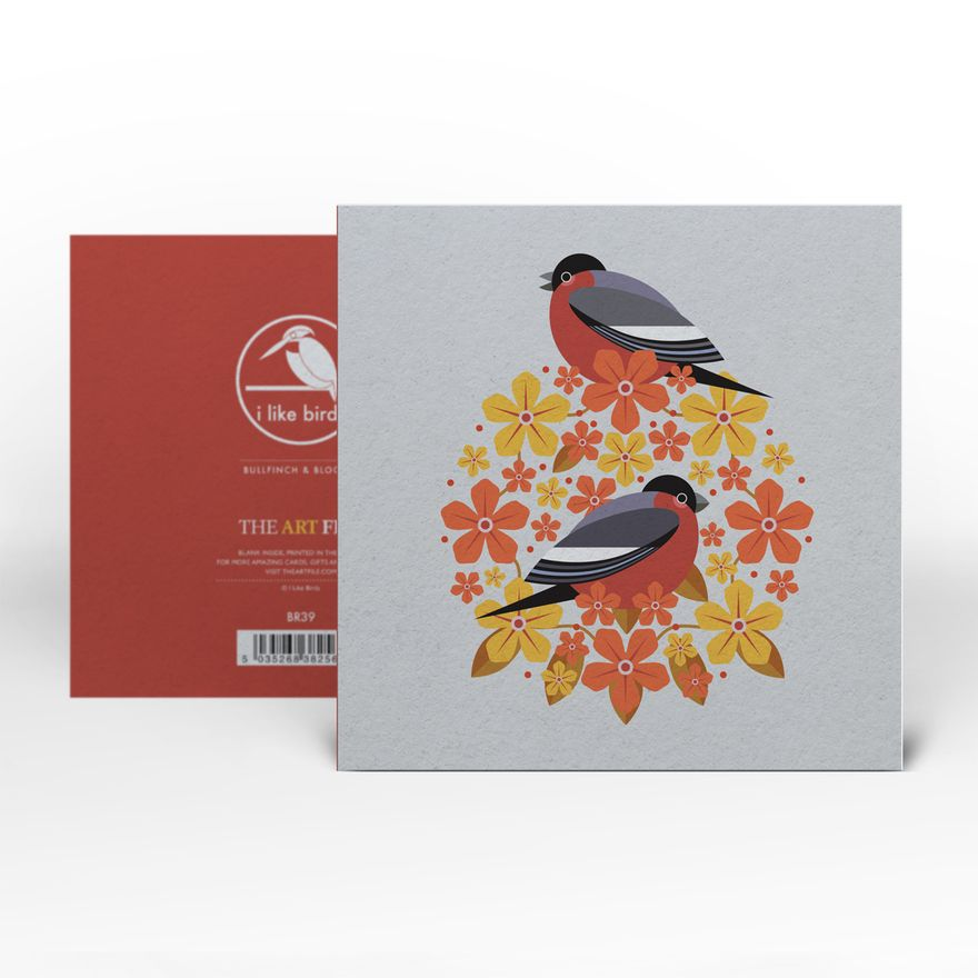 Greeting Card | Bullfinch : Birds & Blooms