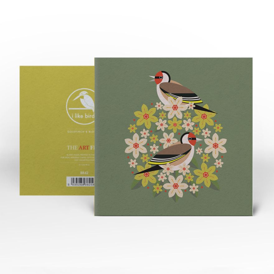 Greeting Card | Goldfinch : Birds & Blooms
