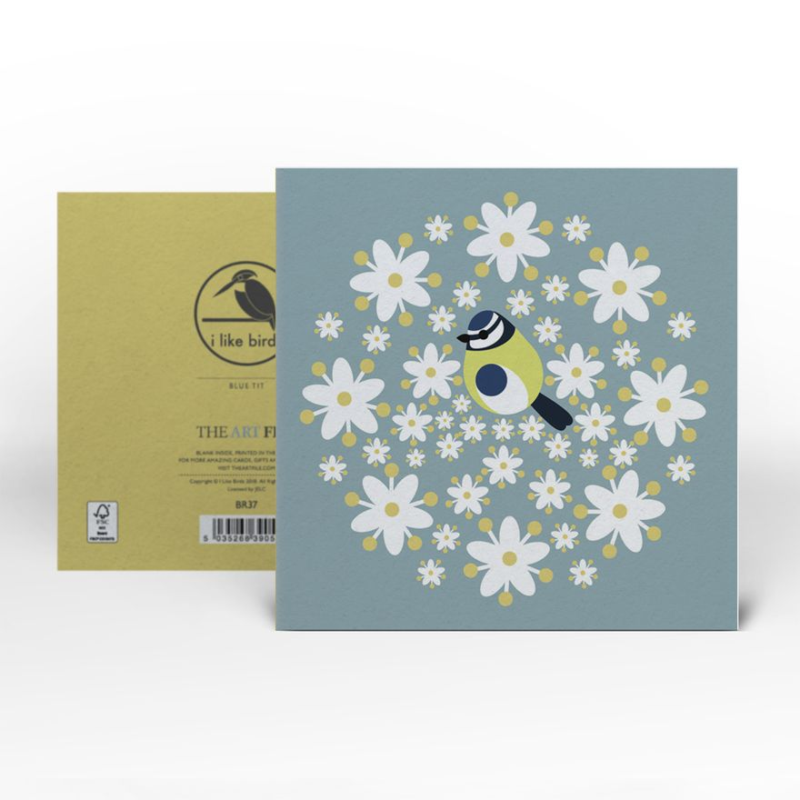 Greeting Card | Blue Tit Bouquet