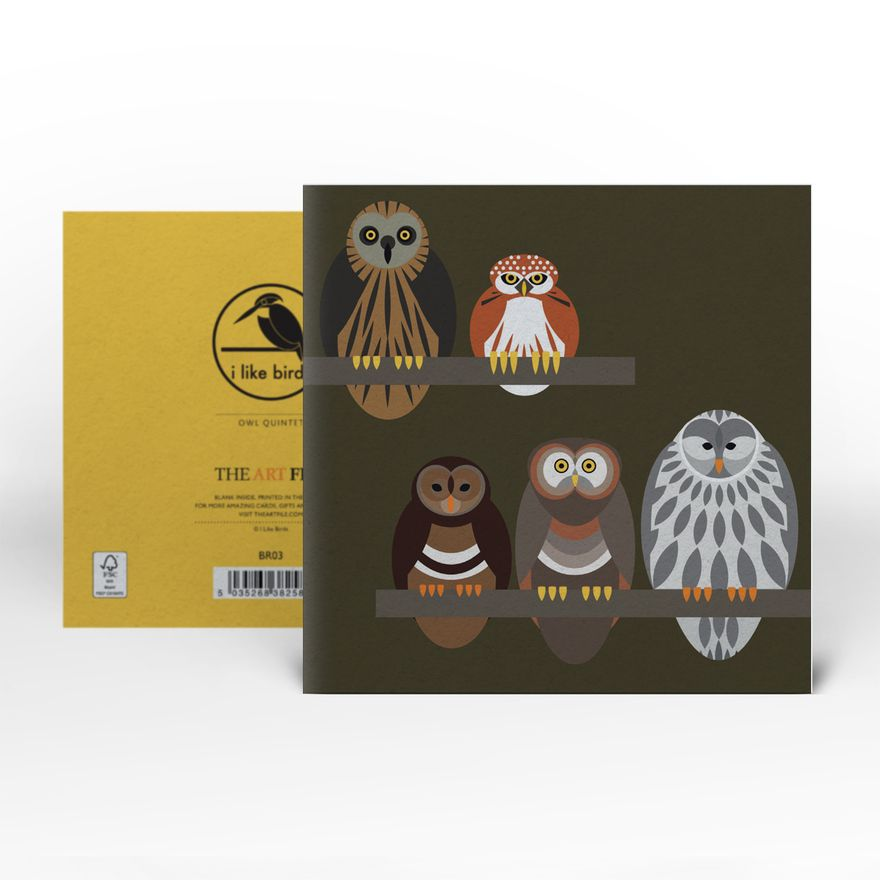 Greeting Card | Owl Quintet