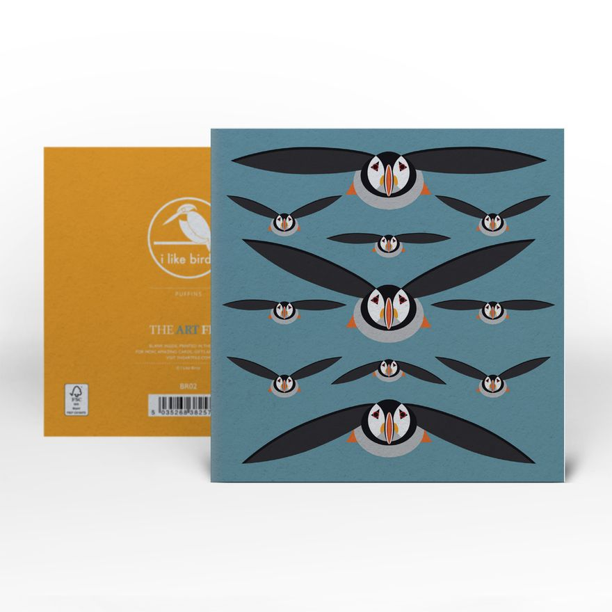 Greeting Card | Puffins