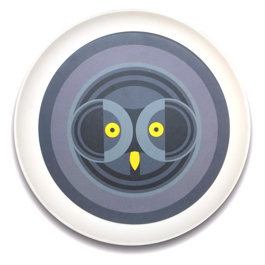 Owl Face Tray - I Like Birds - Beautiful Bird Greeting Cards