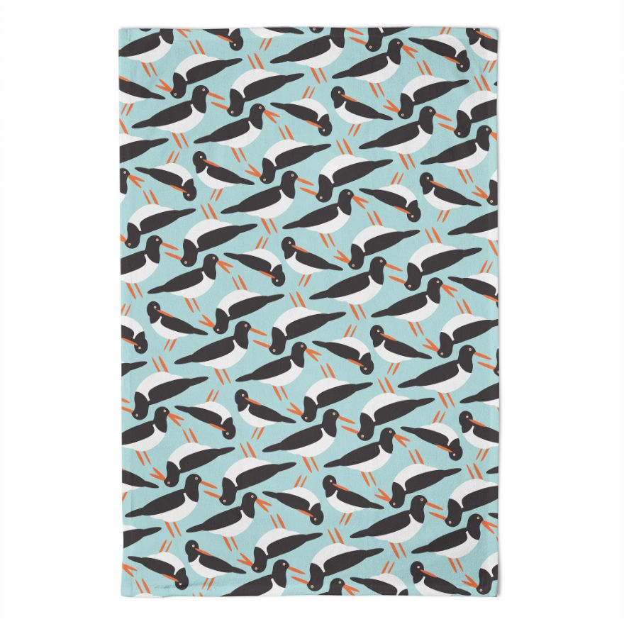 Oystercatcher Tea Towel