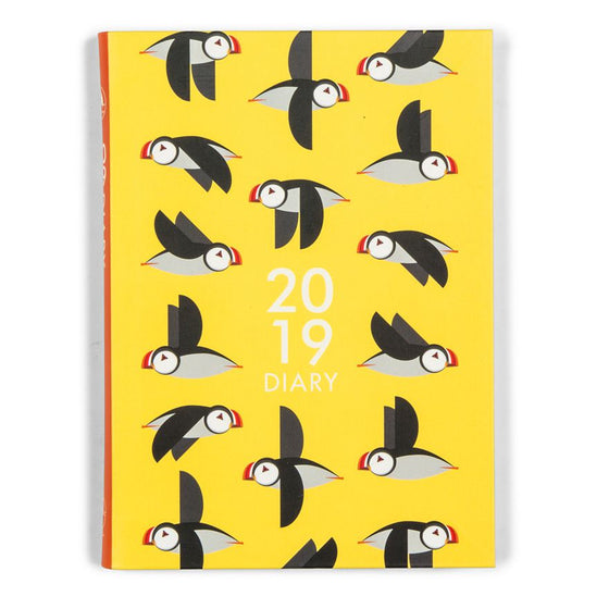 2019 A6 Busy Puffins Diary - I Like Birds - Beautiful Bird Greeting Cards
