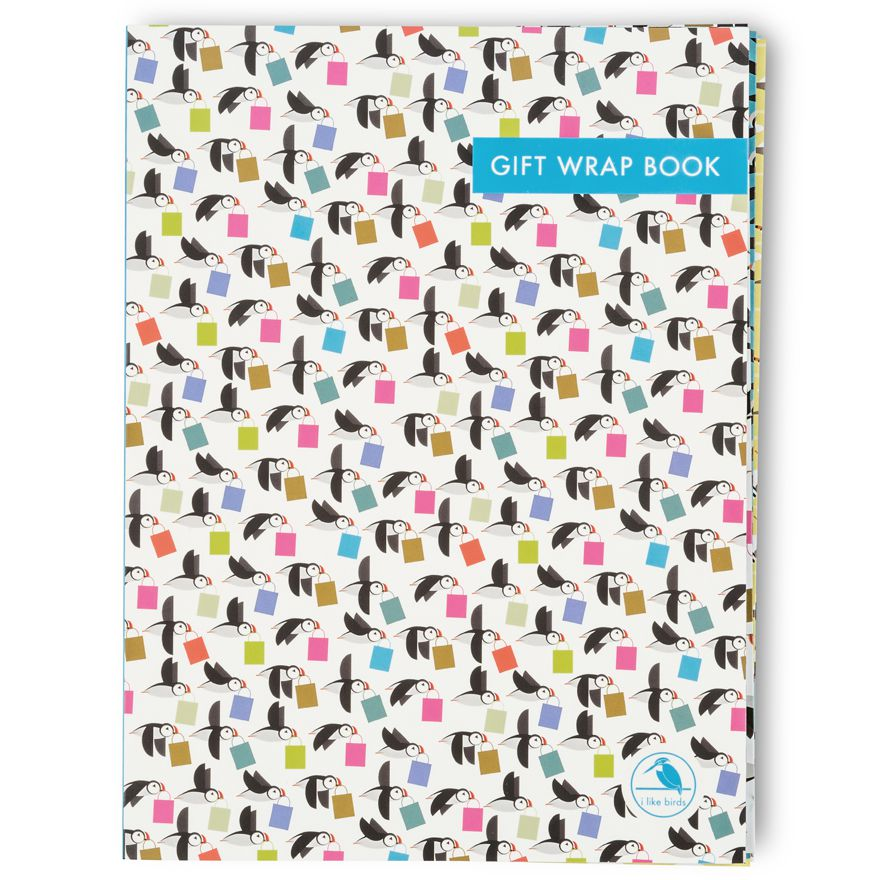 When Puffins Go Shopping Gift Wrap Book - I Like Birds - Beautiful Bird Greeting Cards