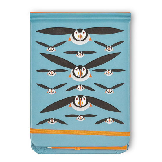 Flying Puffins Spot and Jot - I Like Birds - Beautiful Bird Greeting Cards