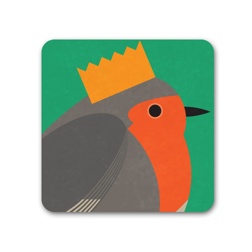 Bird Party! Robin Coaster - I Like Birds - Beautiful Bird Greeting Cards
