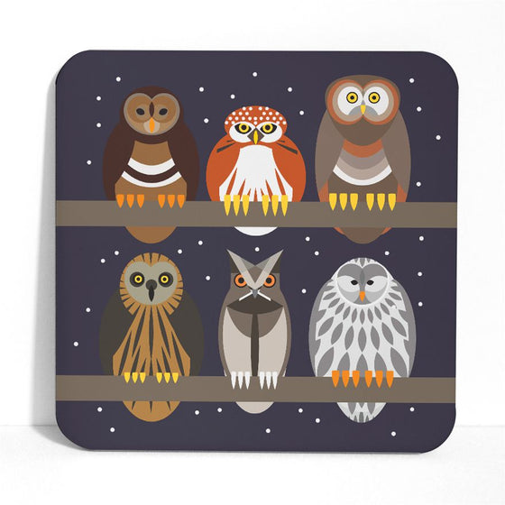 Starry Owls Placemat - I Like Birds - Beautiful Bird Greeting Cards