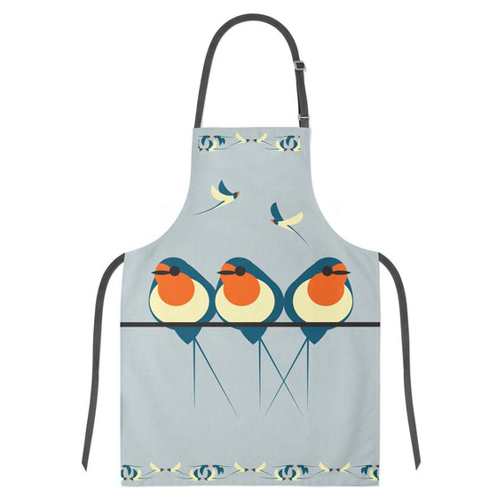 Swallows on a Line Apron
