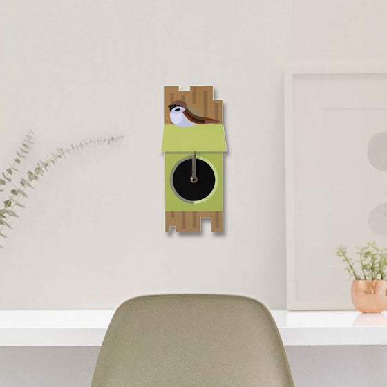 Tree Sparrow Clock