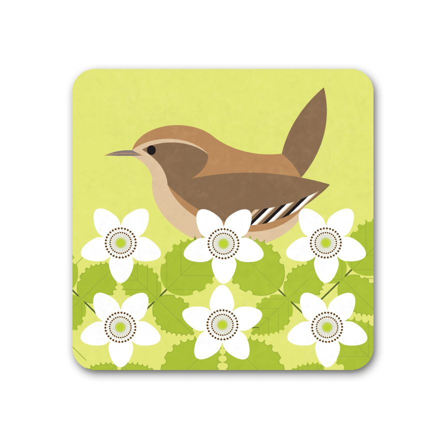 Wren Coaster - I Like Birds - Beautiful Bird Greeting Cards