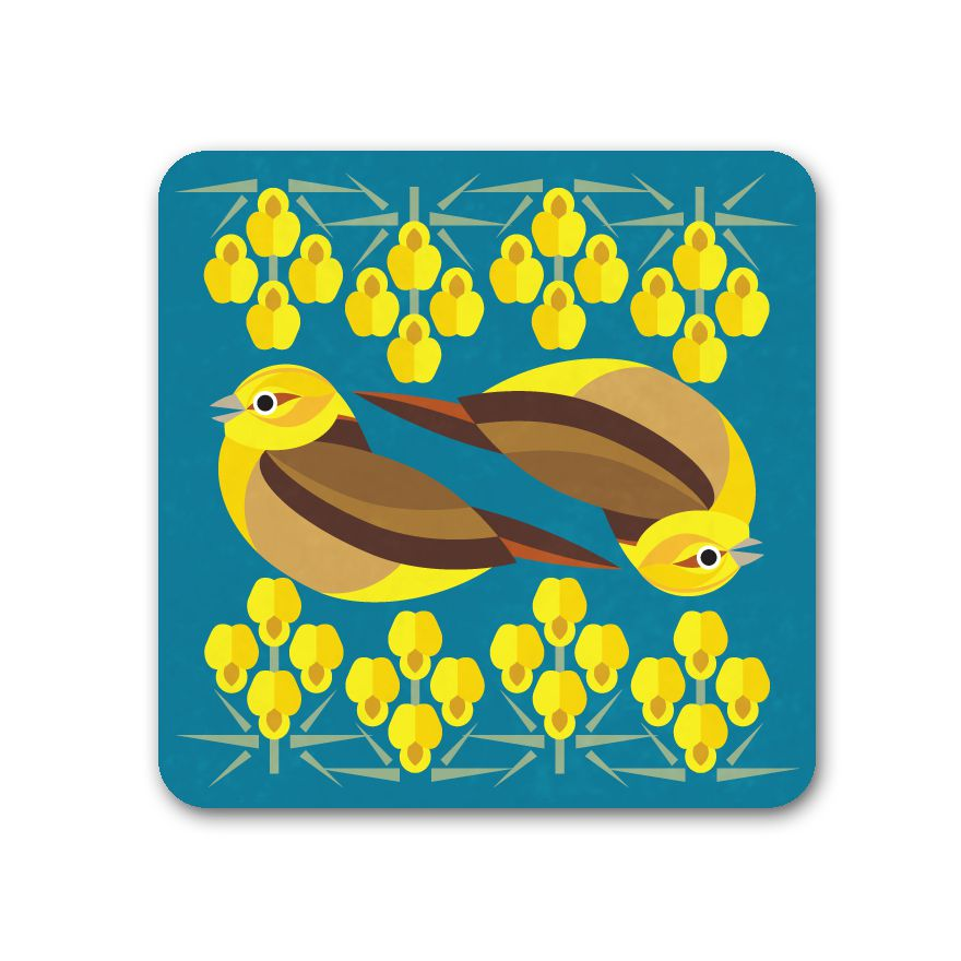 Yellowhammer Coaster - I Like Birds - Beautiful Bird Greeting Cards