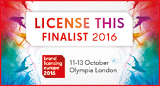 License This 2016 Finalist : Brand Licensing Europe 2016