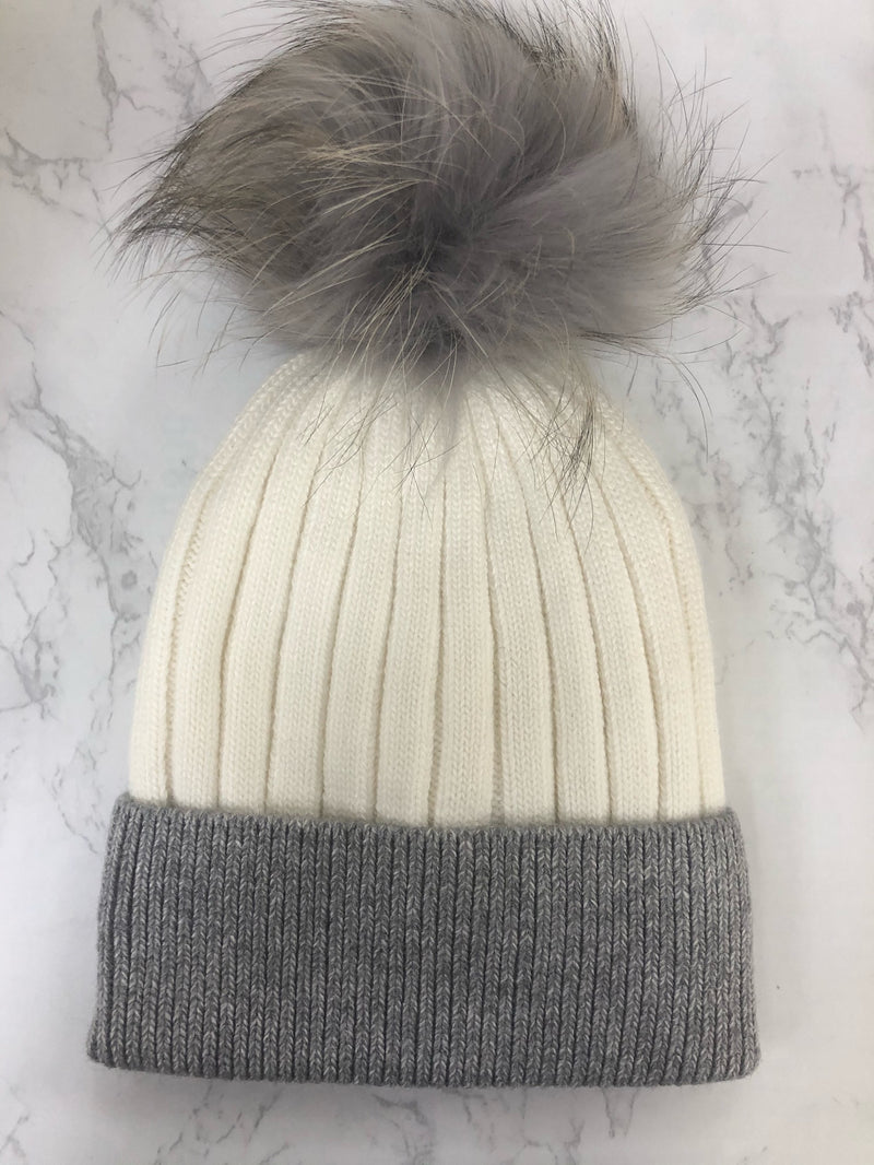 The Olivia Fur Pom Hat