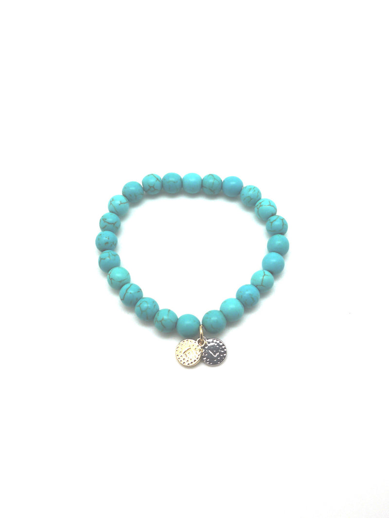 "The ""Love Life"" Healing Stone Bracelet- Turquoise"
