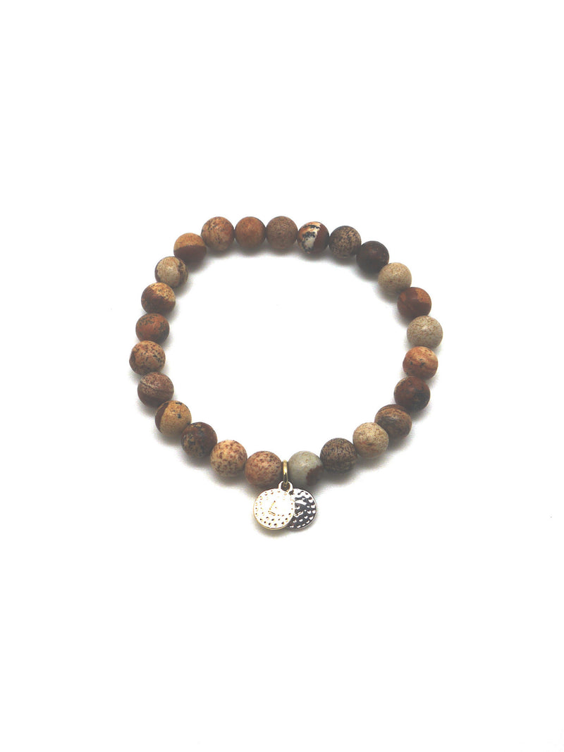 "The ""Love Life"" Healing Stone Bracelet - Picture Jasper"