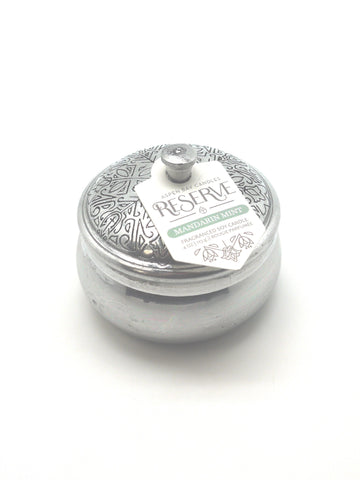 Silver Tin Candle - Mandarin Mint