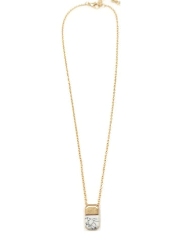 The Telly Necklace - White