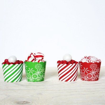 christmas holiday baking cups cupcake liners