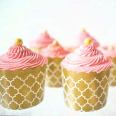 Baking Cups - Orange Dot