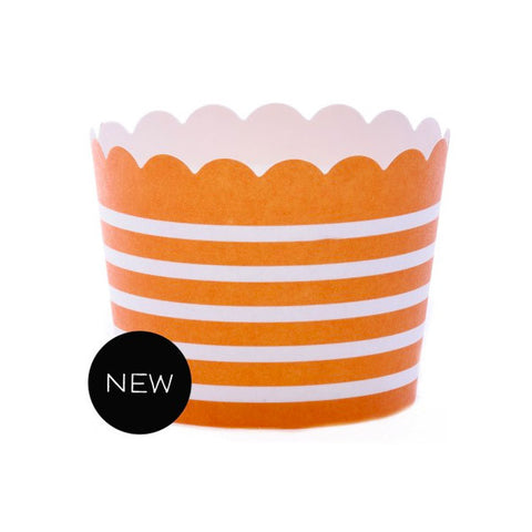 Baking Cups - Orange Horizontal Stripe