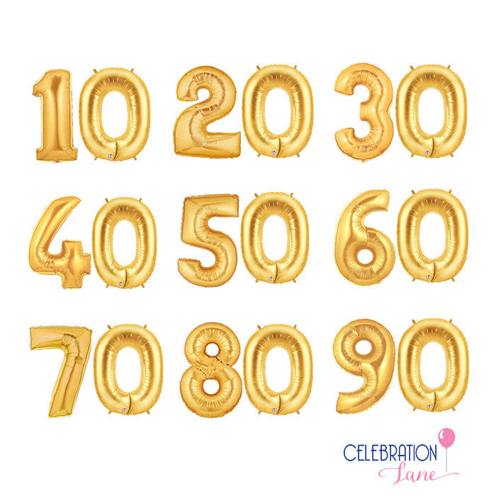 Milestone Number Balloons 40 inch, 21st Birthday, Sweet 16, 30th or 40th Birthday