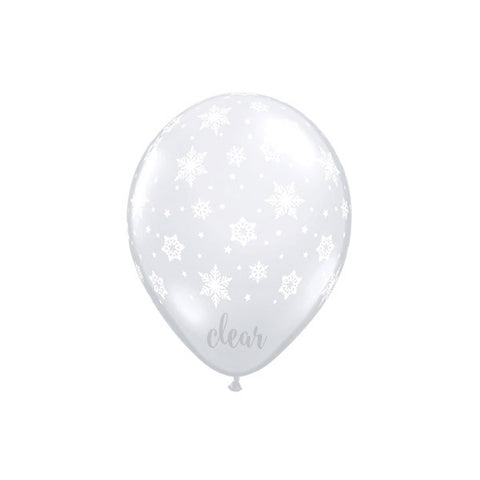 Clear Snowflakes Balloon - 11 in