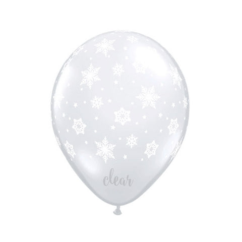 Clear Snowflakes Balloon - 16 in