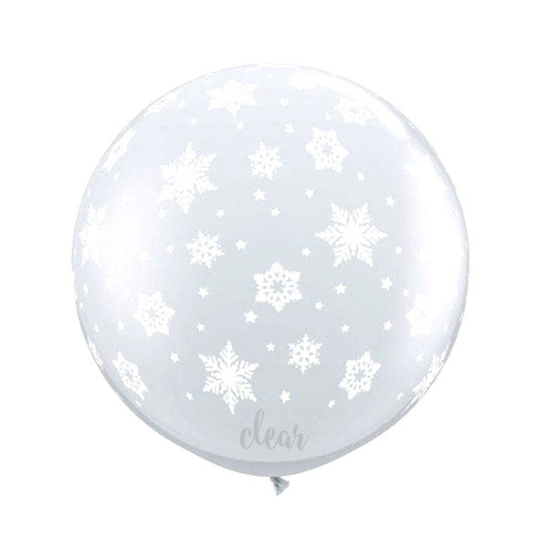 Clear Snowflakes Balloon - 36 in