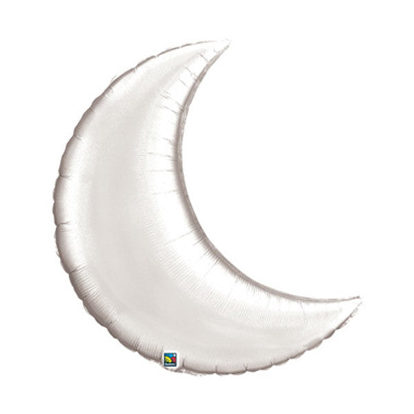 Crescent Moon Balloon 35 in - Silver