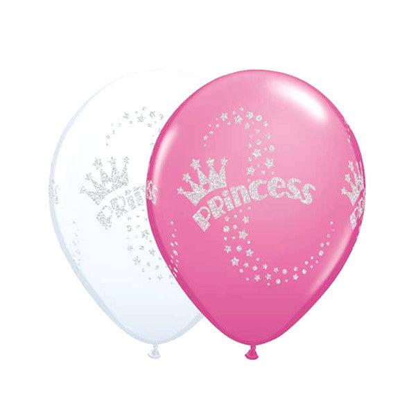 Glittered Princess Latex Ballon - 11 in
