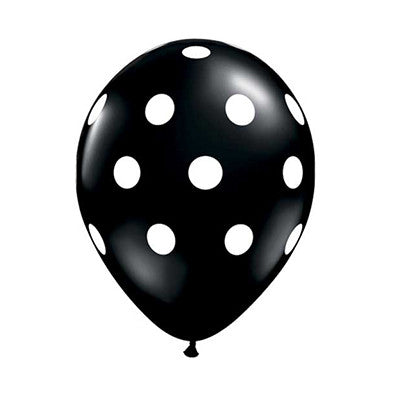 Polka Dot Balloons 11 in - Black