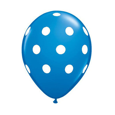 Polka Dot Balloons 11 in - Blue