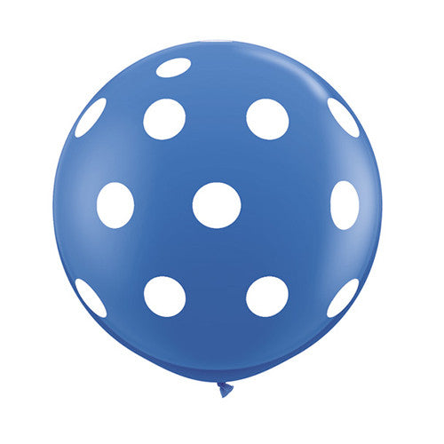Polka Dot Balloons 36 in - Blue
