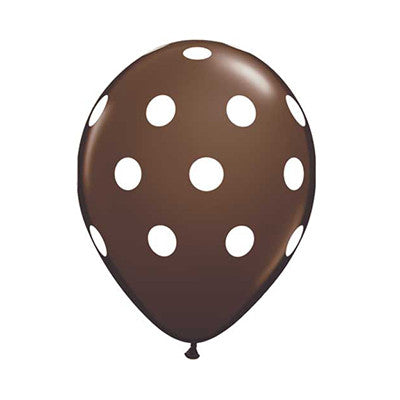 Polka Dot Balloons 11 in - Brown