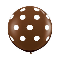 Polka Dot Balloons 36 in - Brown