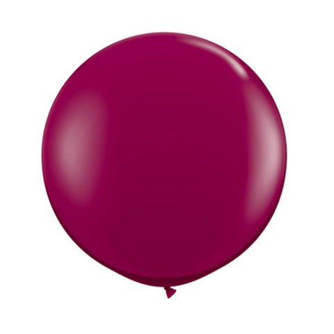 Balloons Round 36 in - Burgundy