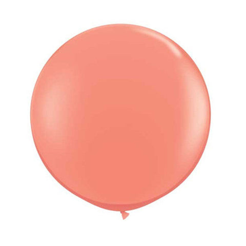 Balloons Round 36 in - Coral