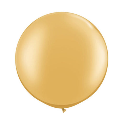 Balloons Round 30 in - Gold