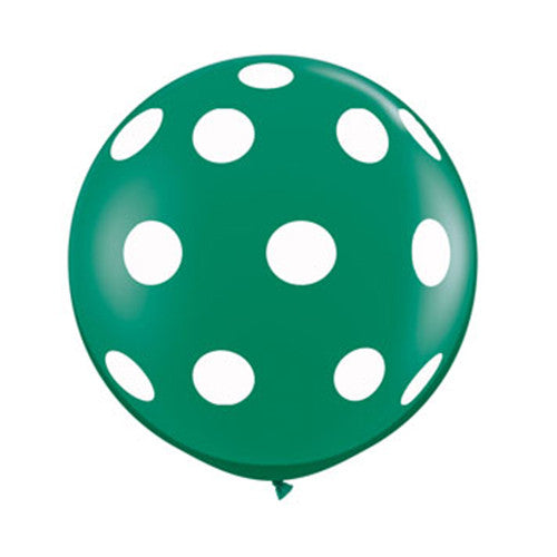 Polka Dot Balloons 36 in - Green