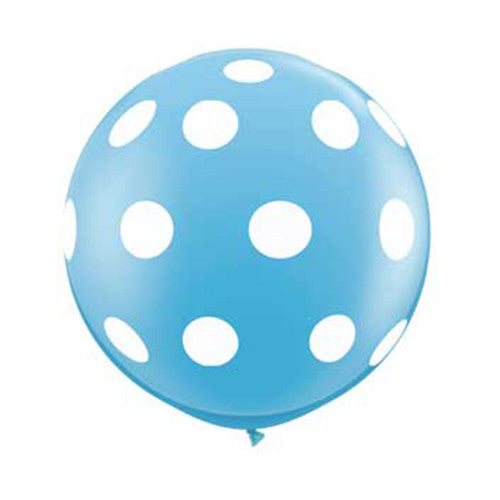 Polka Dot Balloons 36 in - Light Blue