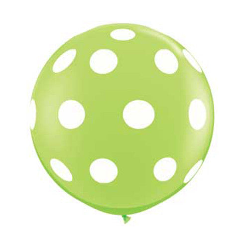 Polka Dot Balloons 36 in - Lime Green
