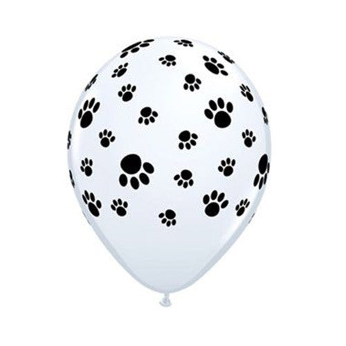 Paw Print Balloons - 11 in