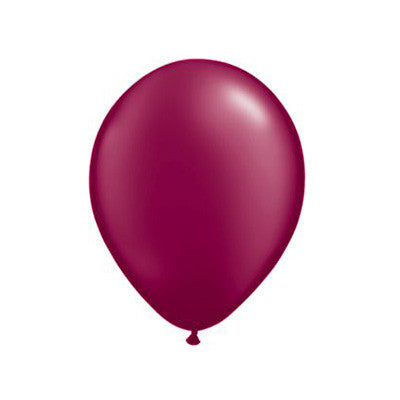 Pearl Balloons 11 in - Burgundy