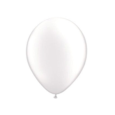 Pearl Balloons 11 in - White
