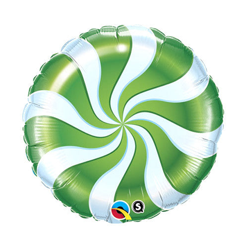 Peppermint Swirl Balloon 18 in - Green