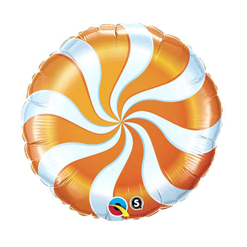 Peppermint Swirl Balloon 18 in - Orange