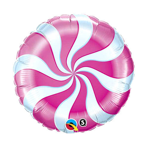 Peppermint Swirl Balloon 18 in - Pink