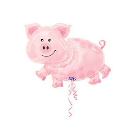 Cute Pig Mylar Balloon - 35 inch