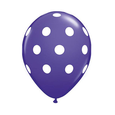 Polka Dot Balloons 11 in - Purple